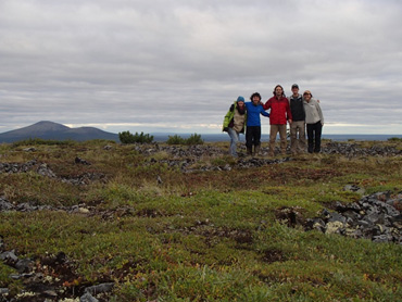 The Forest and Fire Ecology Lab (Left to right: Heather Alexander, Homero Pena, Brian Izbicki, Eric Borth (University of Dayton), and Emily Babl) traveled to Cherskii, Russia and scouted new sites for this project in summer 2017.